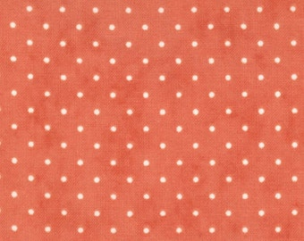 Moda Essential Dots - Coral from Moda Fabrics