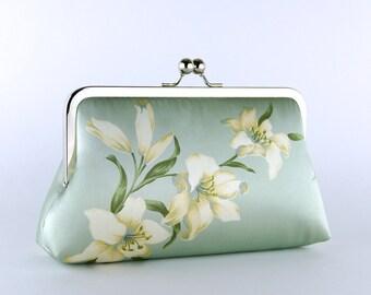 Lily Silk Clutch,  Wedding clutch, Bridal clutch, Bridesmaid clutch, Evening bag