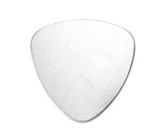 Aluminum Stamping Blanks ... Guitar Pick  - 7/8 Inch - 5 for You - Soft Strike - for Jewelry, Stamping, Scrapbooking, and more....