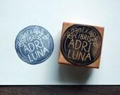 Custom Ex Libris Stamp - 1.5 inch Round