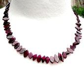 SALE. Garnet necklace. Rich dark red stones. Feminine versatile classy style.  18 inch