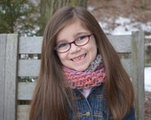 Children's Hand Knit Cowl - hand dyed lambswool yarn