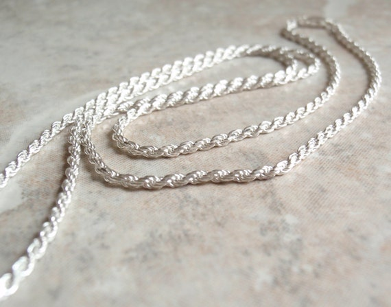 Sterling Silver Rope Chain 22 Inch