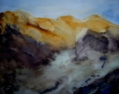 Moubtains. Original watercilor painting 31 x 27 cm - Klagisgallery
