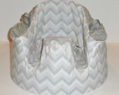 Chevron Bumbo Cover Pink, Gray, and White Zig Zag Gumbo - Ready to Ship