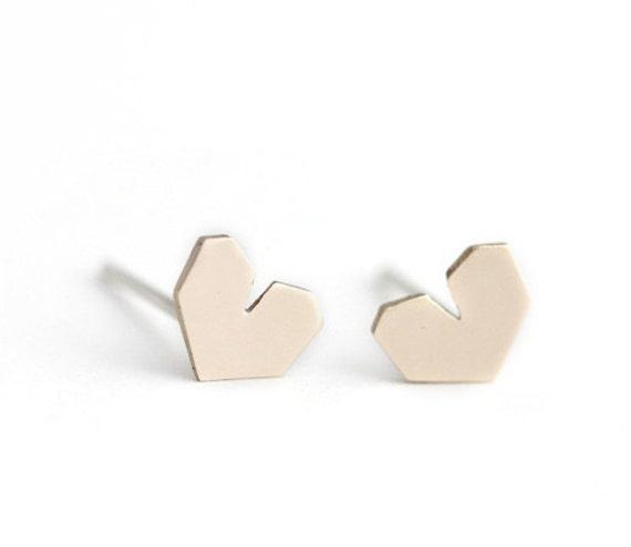 I Heart Earrings - Bronze