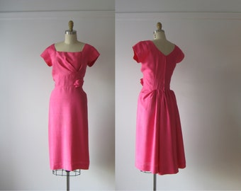 Flamingo Twist / 60s dress / vintage 1960s dress