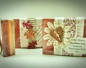 Sandalwood and Warm Autumn Woods Two-Tone Soap