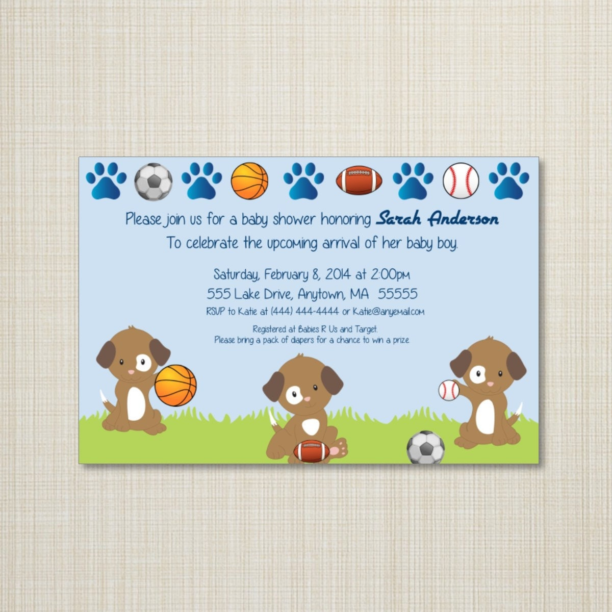 Puppy Baby Shower Invitations – diabetesmang.info