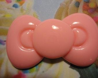 Kawaii decoden deco diy charm cabochon big pink bow--USA seller