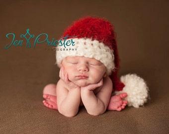 newborn santa hat.....  Baby Santa hat.....photography prop..... photo prop.Newborn photo prop..25% off at checkout with code SEPT1
