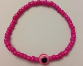 Colorful Beaded Stretch Evil Eye Bracelet Nazar