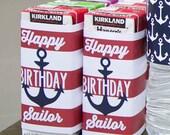 Nautical Party Juice Box Wraps/Labels - Printable