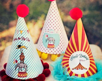 Circus Carnival Party Hats - Printable