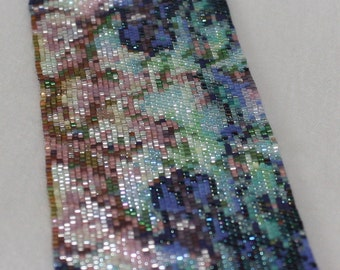 Seed Bead PATTERN for Paua 12 Bracelet Peyote Stitch