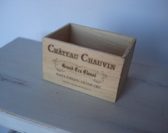 Miniature wine wooden crate