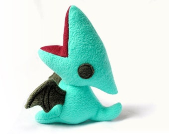 Teal and Grey Pterodactyl Plush
