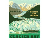 GLACIER BAY Alaska 1S- Handmade Leather Journal / Sketchbook - Travel Art