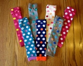 Polka Dot Leg Warmers - 3 Left to Choose From - Pick Your Pair