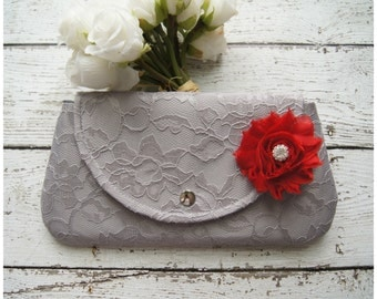 Clutch - Satin Clutch -  Bridesmaid Clutches - Pouch - Formal - Wedding - Boutique - clutch