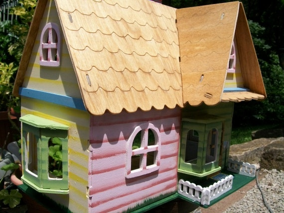 RESERVED FOR KRISTIE Unique Hand Painted Dollhouse