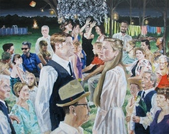 Custom Wedding Portrait Painting from Photographs Art