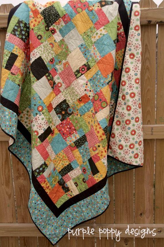 custom patchwork quilt (58x65)