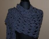 Grey Crochet Shawl