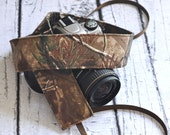 Camoflage Camera Strap - RealTree Camouflage - Gift for Men - 2 inch width