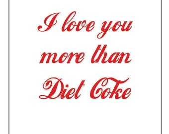 Diet Coke Card