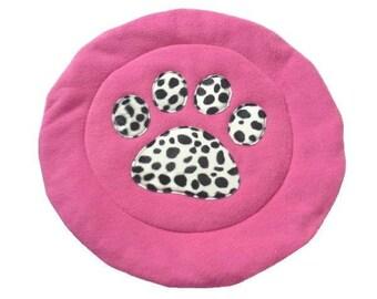 Pink & Dalmation padded Cat Mat (or small dog mat)