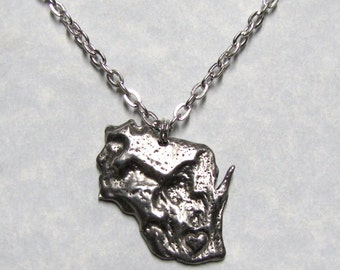 Love State Wisconsin Pendant Necklace