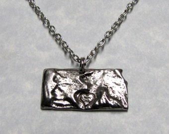 Kansas Love State Necklace Charm
