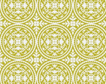 SALE! Joel Dewberry True Colors Fabric Cotton Fabric by the Yard Scrollwork in Green One Yard