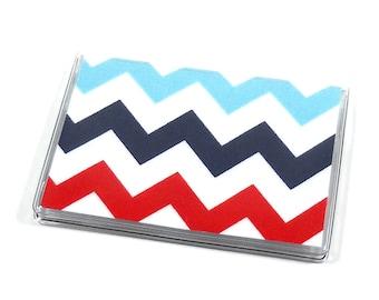 Card Case Mini Wallet Rainbow Chevron