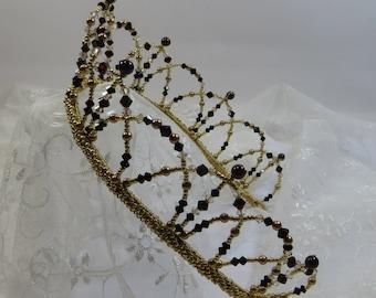 Handmade Swarovski Tiara, Made to Order Elizabeth Tiara,  Arches Tiara in Your Colour Choices, Victorian Gothic Glamour Tiara Hairband