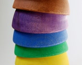 STACK ME- Wooden Bowls- Waldorf Montesosri Stacking Nesting Baby and Toddler Toy