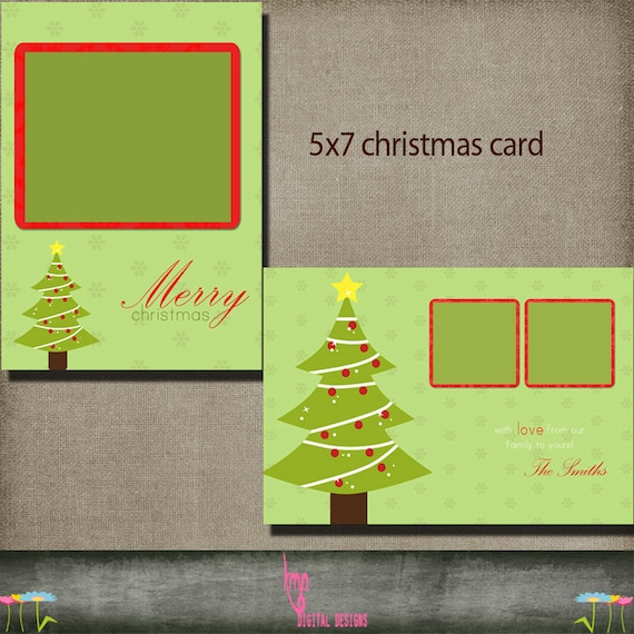 christmas card postcard 5x7 christmas holiday card psd. Black Bedroom Furniture Sets. Home Design Ideas