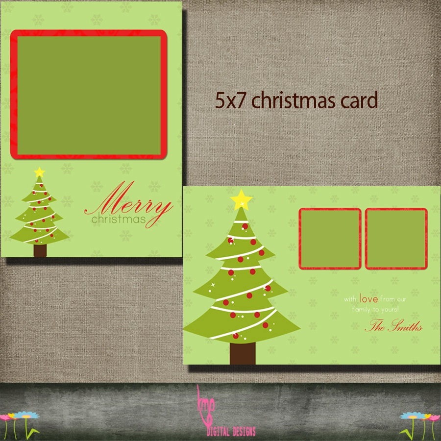 Christmas card postcard 5x7 christmas holiday card psd for 5x7 postcard mailing template