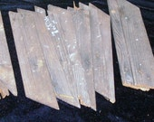 WOOD SCRAPS Weathered Vintage DIY Signs Assemblage Collage, Lot of 10, 8 Inch, Lattice, Prim, Rustic, Plant Accessory,