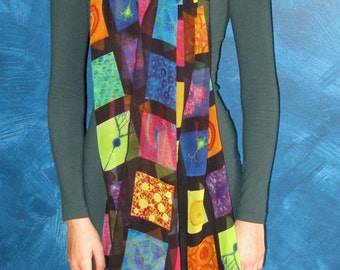 Portrait in Cells - Silk Chiffon Scarf