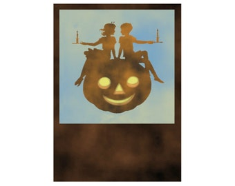 Pumpkin Love Digital Download Halloween Art jpg and png