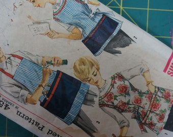 1950s Apron Pattern His and Hers Aprons Size Medium