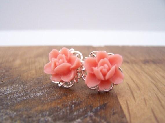Pink Joelle Stud Earrings