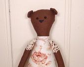 Cottage Bear - Rag Doll Style - Rose Floral