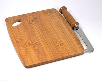Hand Made Bamboo Cheese Knife Bamboo Cutting Board - Serving Board - Bread Board - Cheese Board