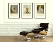 SUPERHERO CITY Inspired Posters, Batman (Gotham City), Superman (Metropolis), Spider-Man (New York City), Art Print Movie Series - 12 x 18
