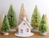 Putz House Ornament DIY Kit Christmas Decoration Cottage Glitter House Paper Craft Kit