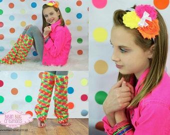Neon legwarmer / bright color leg warmers / baby legwarmers / crochet leg warmers / girl legwarmers / custom legwarmers ballet leg warmer