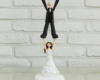 Cheerleader custom wedding cake topper decoration gift keepsake